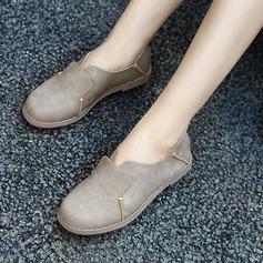 Женщины Замша Плоский каблук На плокой подошве Закрытый мыс с Соединение врасщеп обувь (086134742)