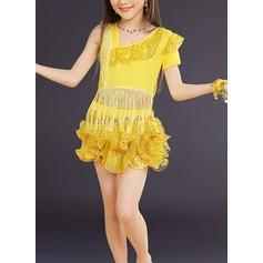 Детская обувь Одежда для танцев Спандекс Латино Платья (115168411)