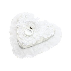 Heart Shaped Ring Box in Satin With Rhinestones/Faux Pearl (103048745)