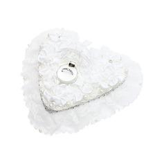 En forme de coeur Boîte de bague à Satiné avec Strass/De faux pearl (103048745)