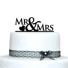 Письмо Г-н & Mrs акрил Свадьба Фигурки для торта (119070024)