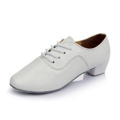 Мужская кожа На каблуках Практика с Шнуровка Обувь для танцев (053053123)