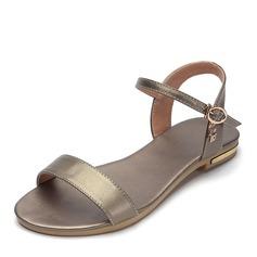 Женщины PU Плоский каблук Сандалии На плокой подошве с пряжка обувь (087157107)
