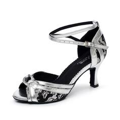 Женщины кружева На каблуках Сандалии Латино с Животных печати Обувь для танцев (053068780)