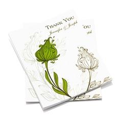 Personlig Blommig Stil Tackkort (Sats om 50) (114054970)