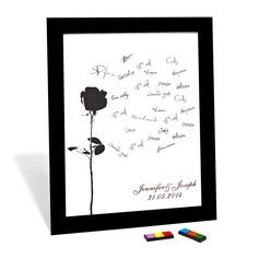 Flowers Design Signature Framed Canvas (101060988)