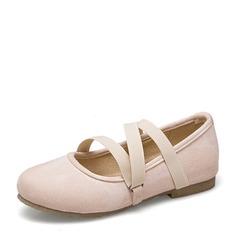 Женщины Замша Плоский каблук На плокой подошве Закрытый мыс с Шнуровка обувь (086153774)