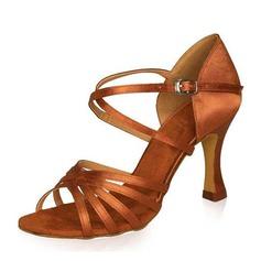 Vrouwen Satijn Hakken Sandalen Latijn Dansschoenen (053022138)