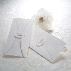 Estilo Florais e do bolso Invitation Cards (Conjunto de 50) (114039001)