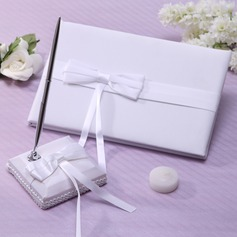 Elegant Ribbons/Bow Guestbook & Pen Set (101037368)