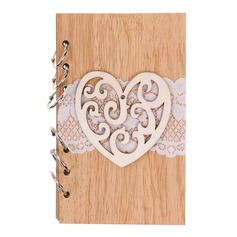 Hjerteformede/Blomster Hjerteformede Tre Notatblokk (Selges i ett stykke) (051166417)