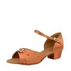Женщины Атлас Шелковые На каблуках Латино Обувь для танцев (053115118)
