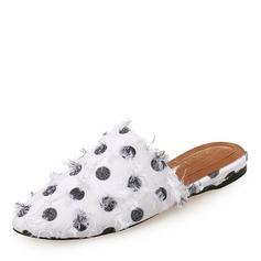 Женщины Жан Плоский каблук На плокой подошве Закрытый мыс Босоножки Тапочки обувь (086188376)