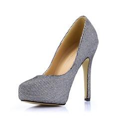 Vrouwen Kunstleer Stiletto Heel Pumps Plateau Closed Toe schoenen (085017487)