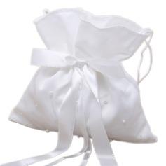 прекрасный Атлас с бантом/Имитация Перл Сумочка невесты (012026241)