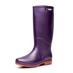 Женщины PVC Низкий каблук Резиновые сапоги обувь (088173040)