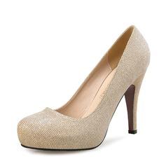 Женщины Мерцающая отделка Высокий тонкий каблук На каблуках Закрытый мыс с Мерцающая отделка обувь (085113647)