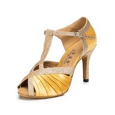 Donna Raso Tacchi Sandalo Latino con Con Listino a T Scarpe da ballo (053105228)