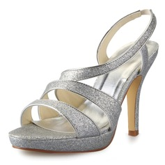 Kvinnor Glittrande Glitter Stilettklack Pumps Sandaler med Spänne (047056186)