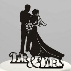 Beeldje Mr & Mrs Acryl Huwelijk Taarttoppers/Vrijgezellenfeest Taarttoppers (119063247)