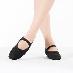 Vrouwen Zeildoek Flats Ballet Dansschoenen (053111525)