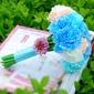 великолепный Круглый ткань Свадебные букеты - (123114217)