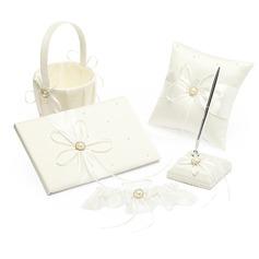 Maravilloso Set de colección en Satén con Cintas/La perla de faux (100017954)