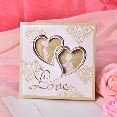 sydän tyyli Tri-Fold Invitation Cards (Sarja 50) (114033287)
