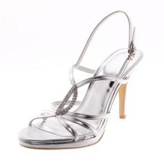 Naisten Keinonahasta Piikkikorko Sandaalit Avokkaat Peep toe jossa Tekojalokivi kengät (087039119)