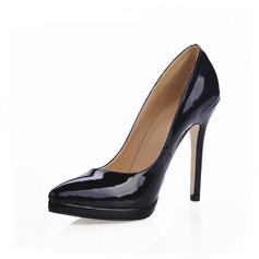 De mujer Piel brillante Tacón stilettos Salón Plataforma Cerrados zapatos (085015213)